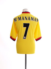 1997-99 Liverpool Away Shirt McManaman #7 *Mint* L