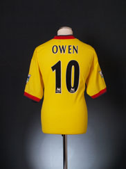 1997-99 Liverpool Away Shirt Owen #10 L