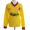1997-99 Liverpool Away Shirt Owen #18 L/S XL