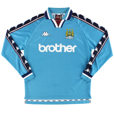 1997-99 Manchester City Home Shirt L/S M