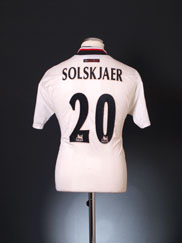 1997-99 Manchester United Away Shirt Solskjaer #20 Y