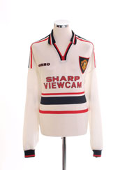 1997-99 Manchester United Away Shirt L/S XXL