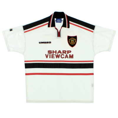 1997-99 Manchester United Umbro Away Shirt XL
