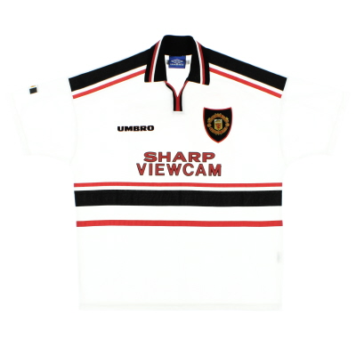 1997-99 Manchester United Umbro Away Shirt L