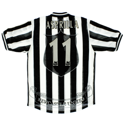 1997-99 Newcastle Home Shirt Asprilla #11 M