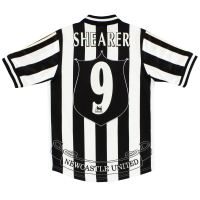 1997-99 Newcastle Home Shirt Shearer #9 Y
