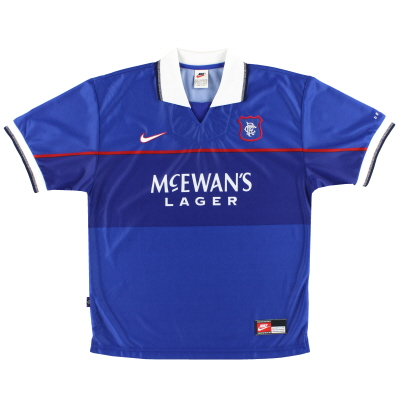 1997-99 Rangers Nike Home Shirt XL