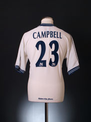 1997-99 Tottenham Home Shirt Campbell #23 M