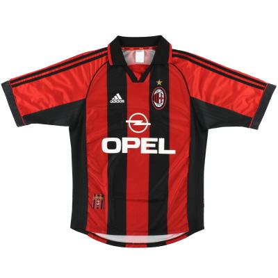 1998-00 AC Milan adidas Home Shirt M