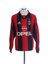 1998-00 AC Milan Home Shirt L/S L