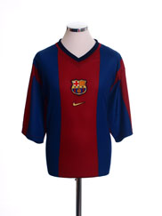 1998-00 Barcelona Basic Home Shirt *Mint* XXL