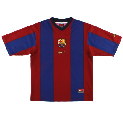 1998-00 Barcelona Basic Home Shirt S