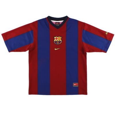 1998-00 Barcelona Nike Basic Home Shirt *Mint* XL