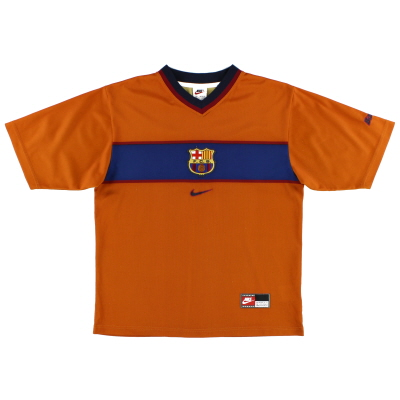 1998-00 Barcelona Nike Basic Third Shirt *Mint* L