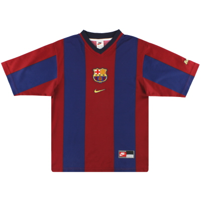 1998-00 Barcelona Nike Basic Home Shirt S