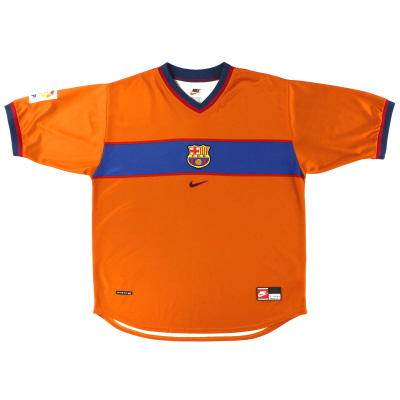 1998-00 Barcelona Nike Third Shirt L