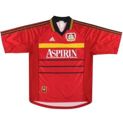 1998-00 Bayer Leverkusen adidas Home Shirt L