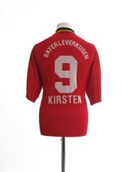 1998-00 Bayer Leverkusen Home Shirt Kirsten #9 M