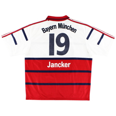 1998-00 Bayern Munich Away Shirt Jancker #19 XL