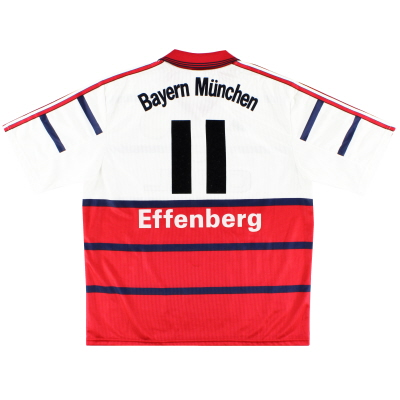 1998-00 Bayern Munich Away Shirt Effenberg #11 XL