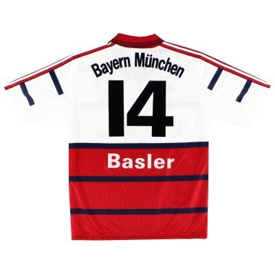1998-00 Bayern Munich Away Shirt Basler #14 S