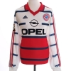 1998-00 Bayern Munich Match Issue Away Shirt Linke #25 L/S XL