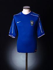 1998-00 Brazil Away Shirt S