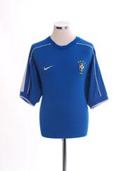 1998-00 Brazil Away Shirt L