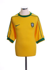 1998-00 Brazil Home Shirt #9 XL