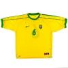 1998-00 Brazil Home Shirt R.Carlos #6 XL