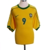 1998-00 Brazil Home Shirt Ronaldo #9 XL