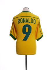 1998-00 Brazil Home Shirt Ronaldo #9 S