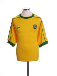 1998-00 Brazil Home Shirt S