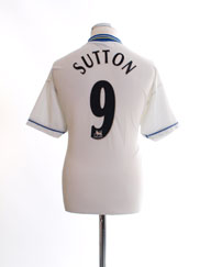 1998-00 Chelsea Away Shirt Sutton #9 L