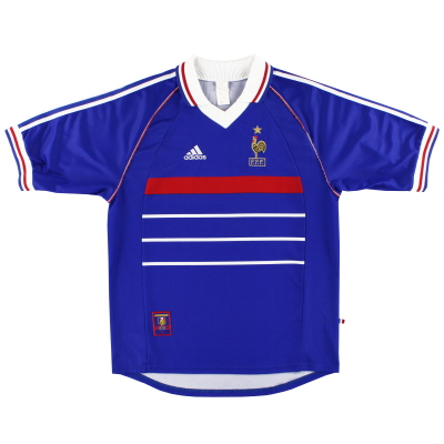 1998-00 France adidas Home Shirt *Mint* L