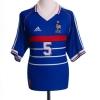 1998-00 France Home Shirt L.Blanc #5 M