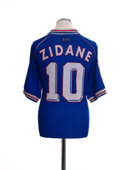 1998-00 France Home Shirt Zidane #10 M