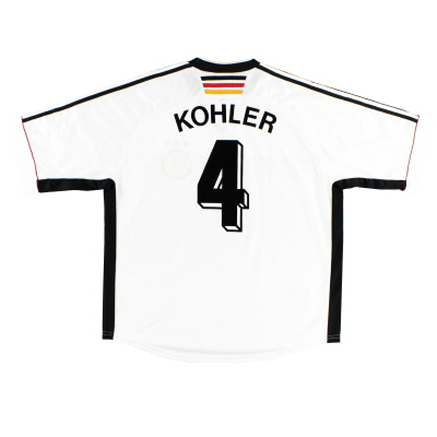 1998-00 Germany Home Shirt Kohler #4 XXL