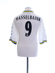 1998-00 Leeds Home Shirt Hasselbaink #9 L