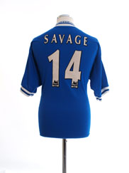 1998-00 Leicester Home Shirt Savage #14 M