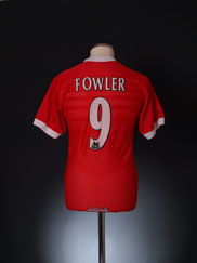 1998-00 Liverpool Home Shirt Fowler #9 Y