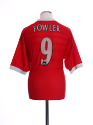 1998-00 Liverpool Home Shirt Fowler #9 L