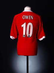 1998-00 Liverpool Home Shirt Owen #10 XL.Boys