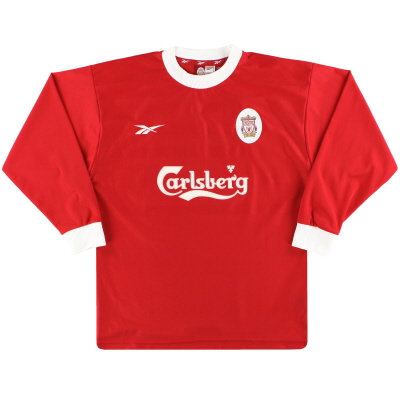 1998-00 Liverpool Reebok Home Shirt L/S *Mint* M
