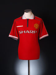 1998-00 Manchester United Home Shirt XL