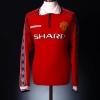1998-00 Manchester United Home Shirt Keane #16 L/S L