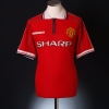 1998-00 Manchester United Home Shirt Cole #9 XXL