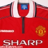 1998-00 Manchester United Home Shirt Cole #9 L.Boys