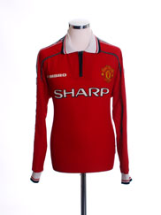 1998-00 Manchester United Home Shirt L/S L