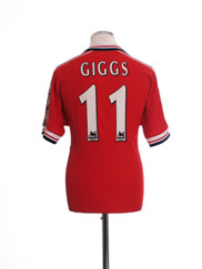1998-00 Manchester United Home Shirt Giggs #11 Y